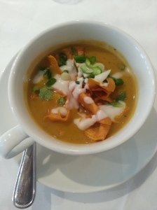 Started off with the Thai Butternut Squash Soup.